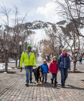 Family in downtown Aspen